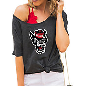 Gameday Couture Women's NC State Wolfpack Grey Vibing Boyfriend T-Shirt