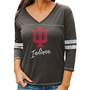 Gameday Couture Women's Indiana Hoosiers Grey ¾ Sleeve Sport T-Shirt