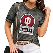 Gameday Couture Women's Indiana Hoosiers Grey Boyfriend T-Shirt