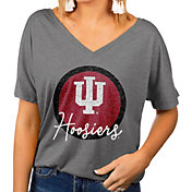 Gameday Couture Women's Indiana Hoosiers Grey Subtle Dolman Sleeve V-Neck T-Shirt