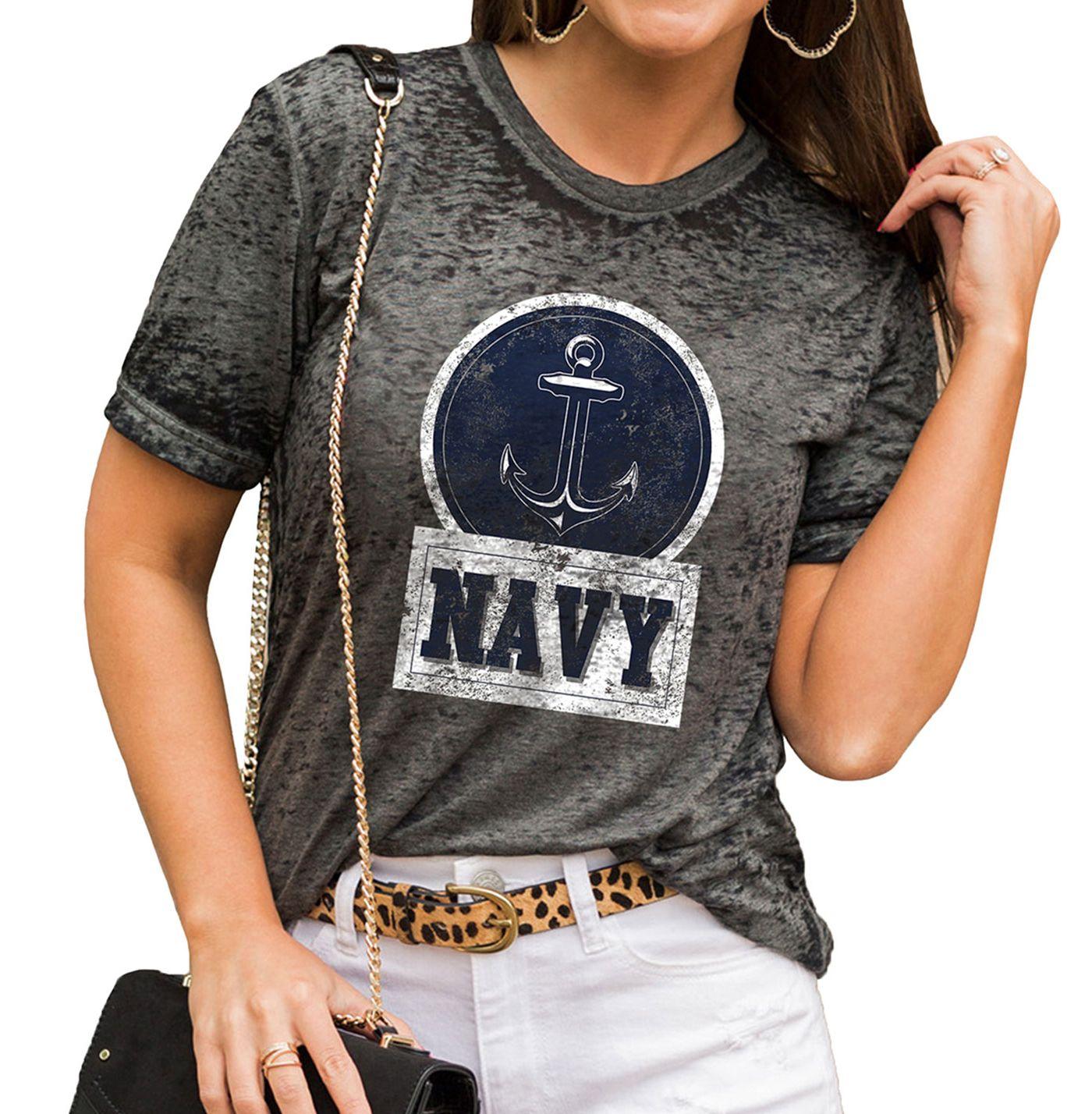 Gameday Couture Women's Navy Midshipmen Grey Boyfriend T-Shirt