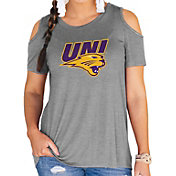 Gameday Couture Women's Northern Iowa Panthers Grey Cold Shoulder T-Shirt