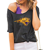 Gameday Couture Women's Northern Iowa Panthers  Grey Vibing Boyfriend T-Shirt