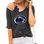 Gameday Couture Women's Penn State Nittany Lions Grey Vibing Boyfriend T-Shirt