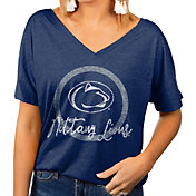 Gameday Couture Women's Penn State Nittany Lions Blue Subtle Dolman Sleeve V-Neck T-Shirt