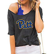 Gameday Couture Women's Pitt Panthers Grey Vibing Boyfriend T-Shirt