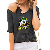 Gameday Couture Women's Oregon Ducks Grey Vibing Boyfriend T-Shirt
