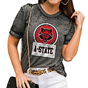 Gameday Couture Women's Arkansas State Red Wolves Grey Boyfriend T-Shirt