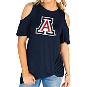 Gameday Couture Women's Arizona Wildcats Navy Alma Mater Cold Shoulder T-Shirt