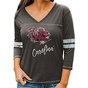 Gameday Couture Women's South Carolina Gamecocks Grey ¾ Sleeve Sport T-Shirt