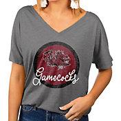 Gameday Couture Women's South Carolina Gamecocks Grey Subtle Dolman Sleeve V-Neck T-Shirt
