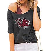 Gameday Couture Women's South Carolina Gamecocks Grey Vibing Boyfriend T-Shirt