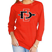 Gameday Couture Women's San Diego State Aztecs Scarlet Varsity Long Sleeve T-Shirt