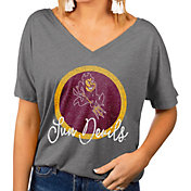 Gameday Couture Women's Arizona State Sun Devils Grey Subtle Dolman Sleeve V-Neck T-Shirt