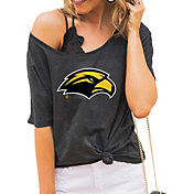 Gameday Couture Women's Southern Miss Golden Eagles Grey Vibing Boyfriend T-Shirt