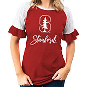 Gameday Couture Women's Stanford Cardinal Cardinal Striped Ruffle Sleeve T-Shirt