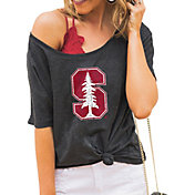 Gameday Couture Women's Stanford Cardinal Grey Vibing Boyfriend T-Shirt