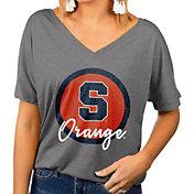 Gameday Couture Women's Syracuse Orange Grey Subtle Dolman Sleeve V-Neck T-Shirt