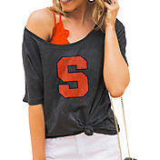 Gameday Couture Women's Syracuse Orange Grey Vibing Boyfriend T-Shirt