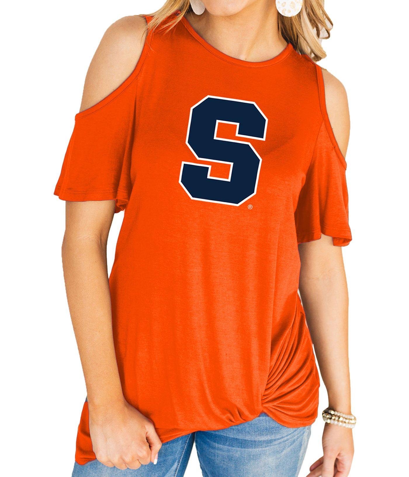 Gameday Couture Women's Syracuse Orange Orange Alma Mater Cold Shoulder T-Shirt
