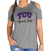 Gameday Couture Women's TCU Horned Frogs Grey Cold Shoulder T-Shirt