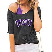 Gameday Couture Women's TCU Horned Frogs Grey Vibing Boyfriend T-Shirt