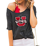 Gameday Couture Women's Utah Utes Grey Vibing Boyfriend T-Shirt
