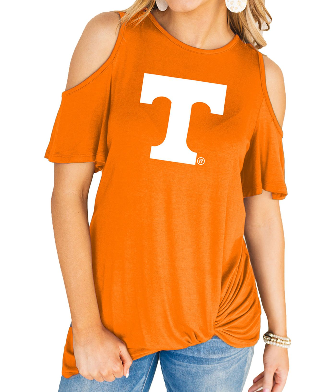 Gameday Couture Women's Tennessee Volunteers Tennessee Orange Alma Mater Cold Shoulder T-Shirt