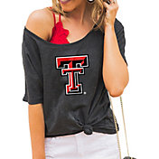 Gameday Couture Women's Texas Tech Red Raiders Grey Vibing Boyfriend T-Shirt