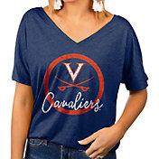 Gameday Couture Women's Virginia Cavaliers Blue Subtle Dolman Sleeve V-Neck T-Shirt