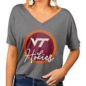 Gameday Couture Women's Virginia Tech Hokies Grey Subtle Dolman Sleeve V-Neck T-Shirt