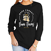 Gameday Couture Women's Wake Forest Demon Deacons Varsity Long Sleeve Black T-Shirt