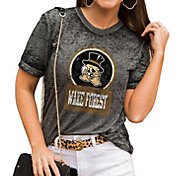 Gameday Couture Women's Wake Forest Demon Deacons Grey Boyfriend T-Shirt