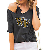 Gameday Couture Women's Wake Forest Demon Deacons Grey Vibing Boyfriend T-Shirt