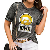 Gameday Couture Women's Iowa Hawkeyes Grey Boyfriend T-Shirt