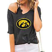 Gameday Couture Women's Iowa Hawkeyes Grey Vibing Boyfriend T-Shirt