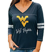 Gameday Couture Women's West Virginia Mountaineers Blue ¾ Sleeve Sport T-Shirt