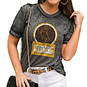Gameday Couture Women's Wyoming Cowboys Grey Boyfriend T-Shirt