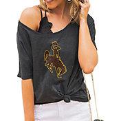 Gameday Couture Women's Wyoming Cowboys Grey Vibing Boyfriend T-Shirt