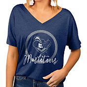 Gameday Couture Women's Xavier Musketeers Blue Subtle Dolman Sleeve V-Neck T-Shirt