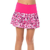 Lucky In Love Girls' Chroma Pleated Tier Tennis Skort