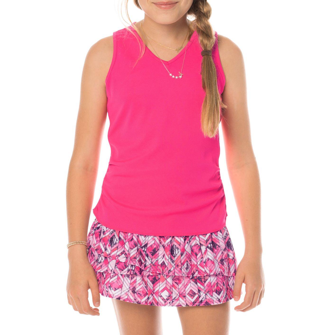 Lucky In Love Girls' Horizon Ombre Tennis Tank