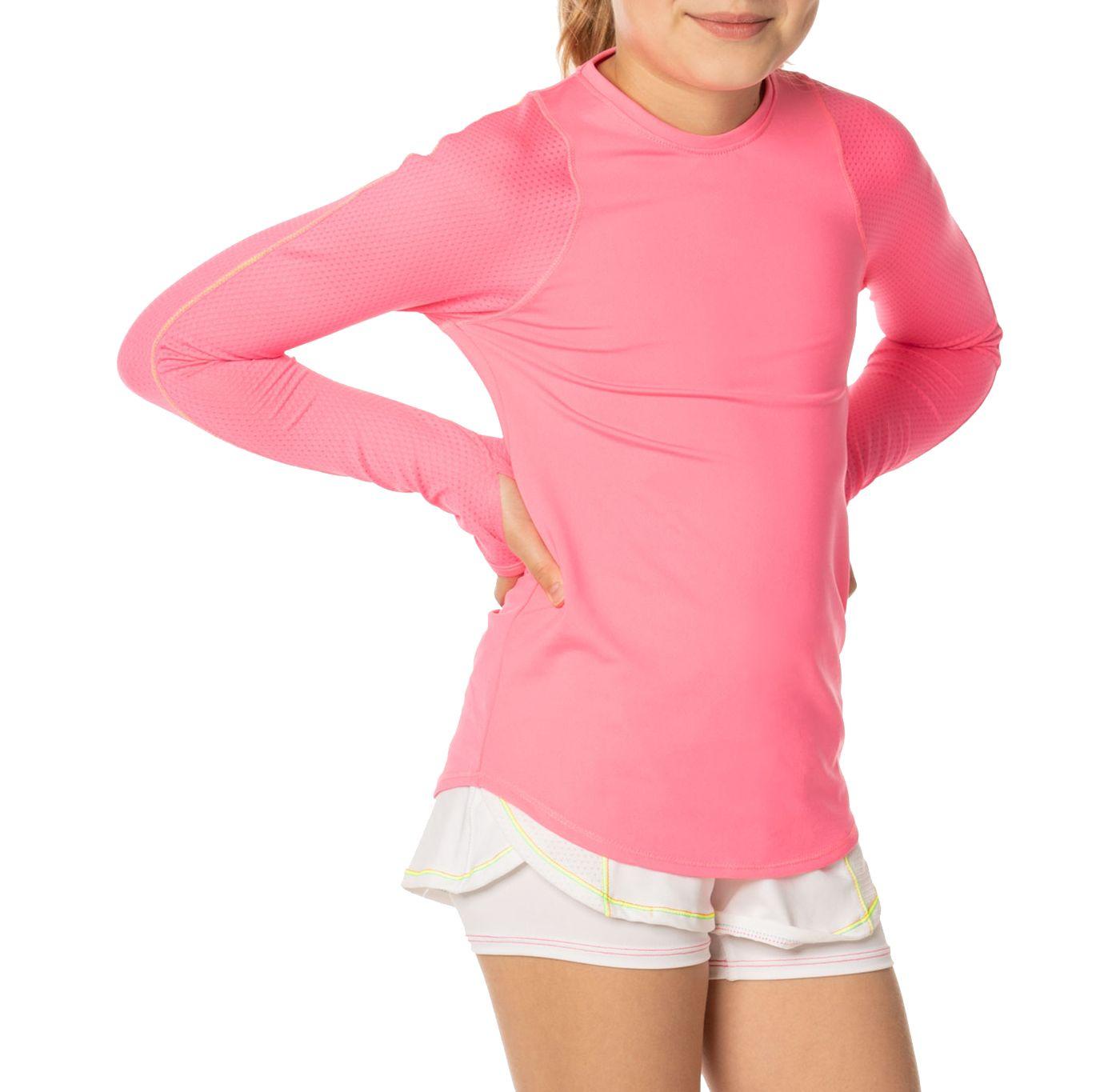 Lucky In Love Girls' Long Sleeve Tennis Shirt