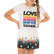Lucky In Love Girls' Love You More Tennis T-Shirt