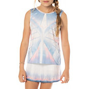Lucky In Love Girls' Astral Tie Back Tennis Tank