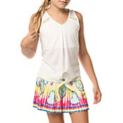 Lucky In Love Girls' Tie Knot Tennis Tank