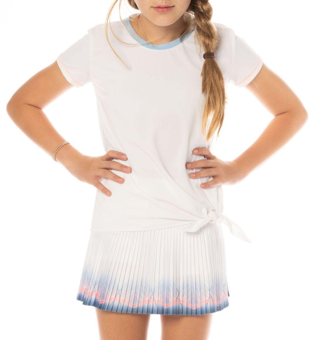 premium selection 80a71 27b2b Lucky In Love Girls' Tie Knot Tennis Shirt