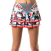 Lucky In Love Women's Bloomy Dimensions Pleat Tier Tennis Skort