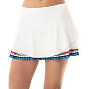 Lucky In Love Women's Bloomy Dimensions Beeline Border Pleated Tennis Skort