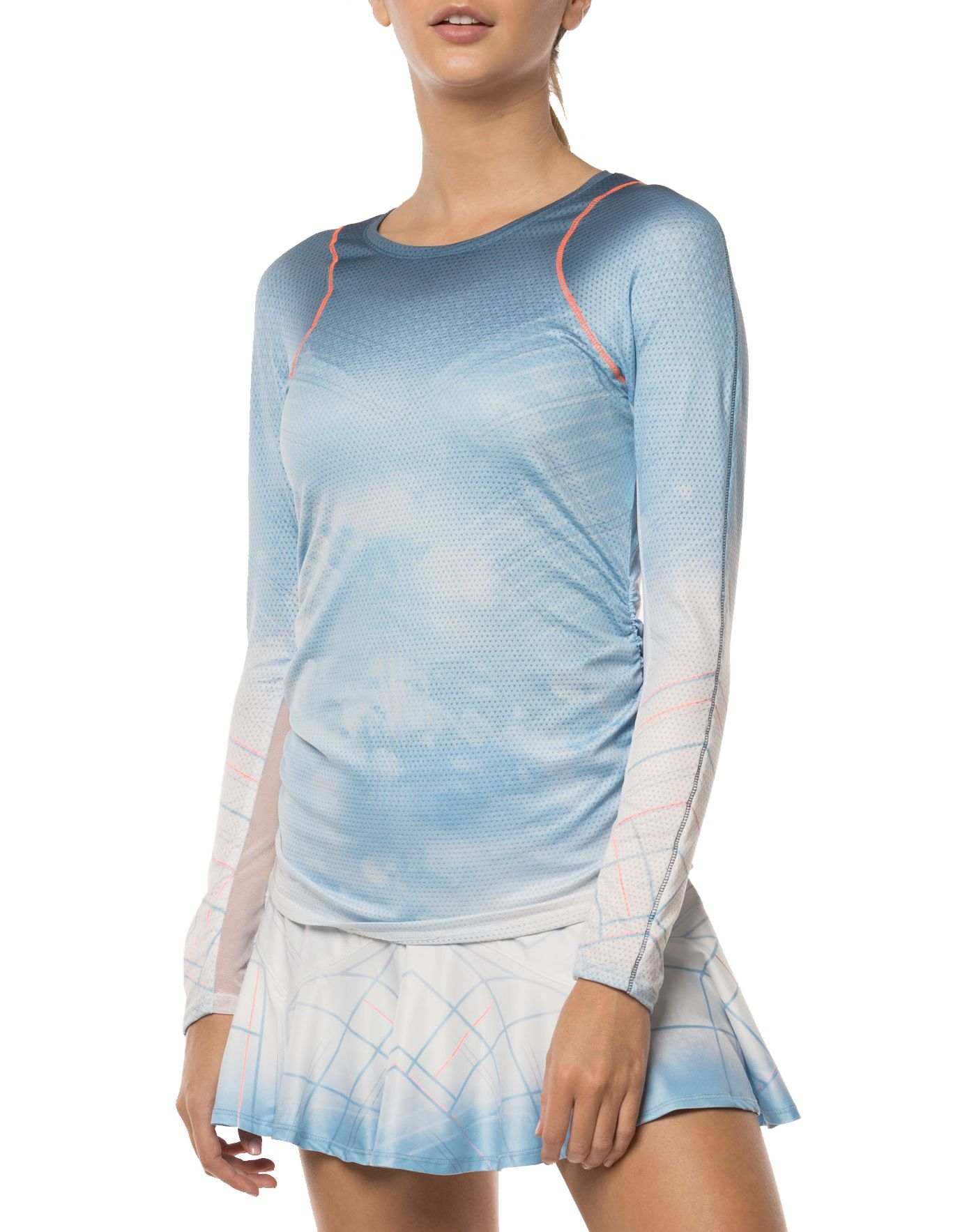 Lucky In Love Women's Celestial Long Sleeve Tennis Shirt